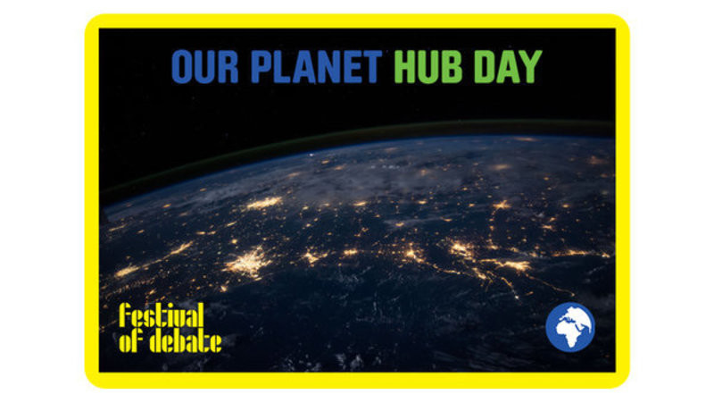 Header display our planet hub day 1c